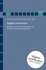 Subjekt und Person
