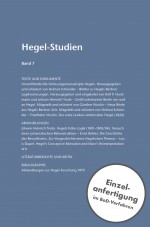 Hegel-Studien Band 7 (1972)