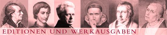 Editionen und Werkausgaben Felix Meiner Verlag